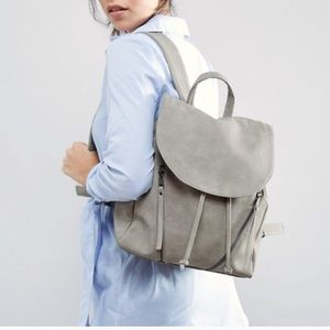 ASOS Gray Backpack w/ Zipper Detail
